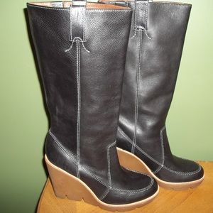 *2 Pairs* Michael Kors Leather Wedge Boots Sz 7.5
